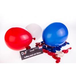 Ballon rood wit blauw 24 stuks