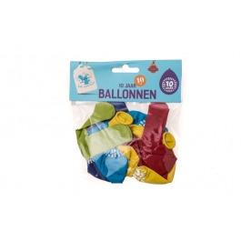 Ballonnen 10 jaar 10 stuks gekleurd