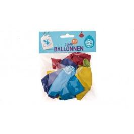 Ballonnen 3 jaar 10 stuks gekleurd