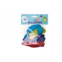 Ballonnen 9 jaar 10 stuks gekleurd