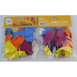 Ballonnen tropical 12 STUKS