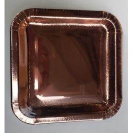 Bordjes rose-goud uni 8 stuks