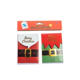 Cadeaukaart kerst met envelop 6 stuks
