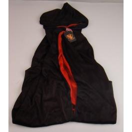 Cape twee kleurig rood/zwart maat S