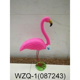 Flamingo op metalen voet