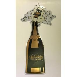 Gelukkig nieuwjaar! champagne fles