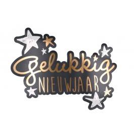 Gelukkig nieuwjaar!decoratie bord