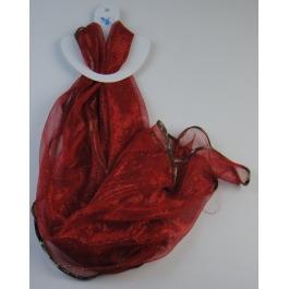 Glitter sjaal rood