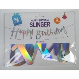 Happy birthday slinger holografisch
