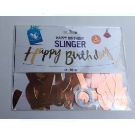 Happy birthday slinger rosé goud