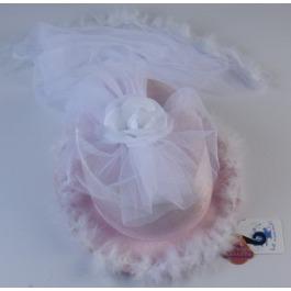Hoed roze bruid