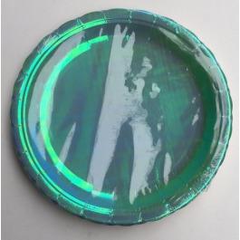 Holografische bordjes blauw