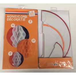 Honeycombs Holland (rd/wit/bl en oranje)