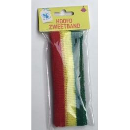 Hoofdzweetband rood/geel/groen