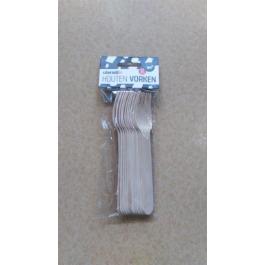 Houten vorken 12 stuks