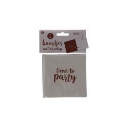 Kaartjes met envelop rosé goud