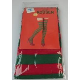 Kerst kousen rood/groen one size