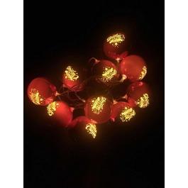 Kerstballen met led licht 10 st.