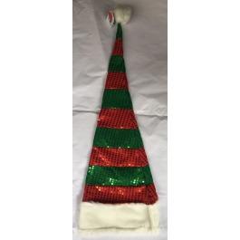 Kerstmuts groen met rood