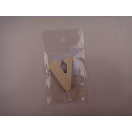 Letter hout V