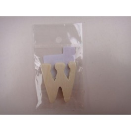 Letter hout W