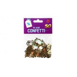 Mettallic cijfer confetti nr 50