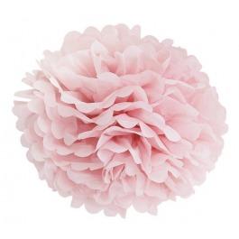Papieren pompom 25cm roze