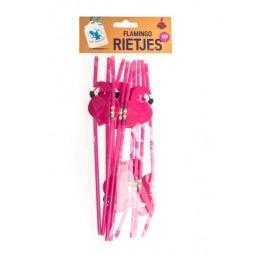 Rietjes flamingo 10 stuks