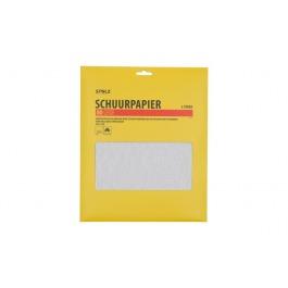 Schuurpapier 80 grof 5 vellen