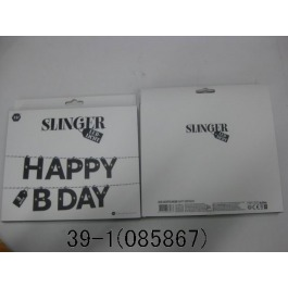 Slinger met led verlichting happy birthday