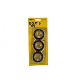 Tape pvc isolatie 3*10 mtr zwart
