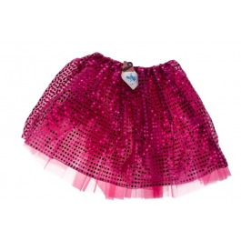 Tutu glitter fuchsia medium / large