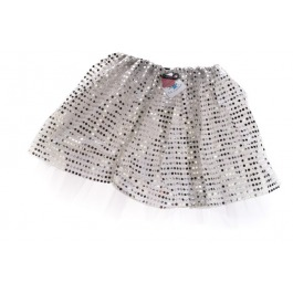 Tutu glitter zilver medium / large