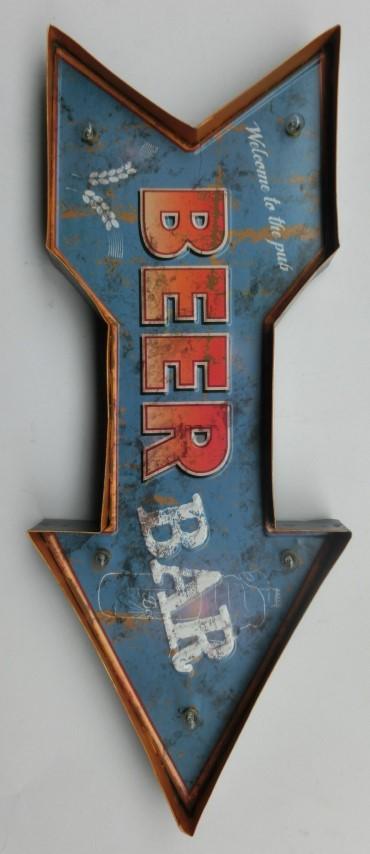 """Vintage sign """"beer bar"""""""