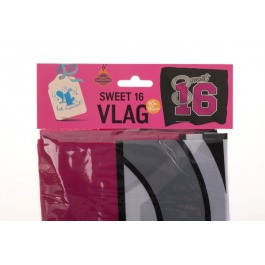 Vlag sweet 16 (95x95cm)