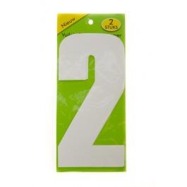 Vuilnisbak sticker 2 stuks nummer 2