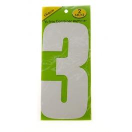 Vuilnisbak sticker 2 stuks nummer 3