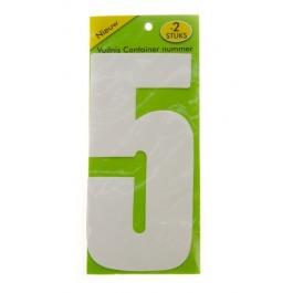 Vuilnisbak sticker 2 stuks nummer 5
