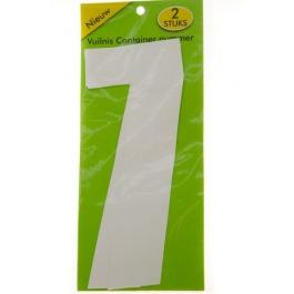 Vuilnisbak sticker 2 stuks nummer 7