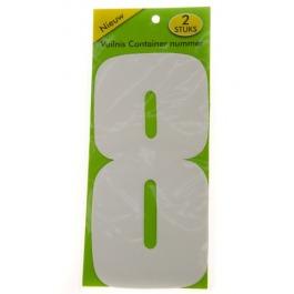 Vuilnisbak sticker 2 stuks nummer 8