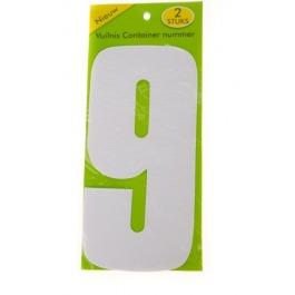 Vuilnisbak sticker 2 stuks nummer 9