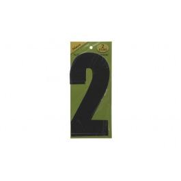 Vuilnisbak sticker 2st nummer 2 zwart