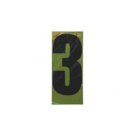 Vuilnisbak sticker 2st nummer 3 zwart