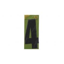 Vuilnisbak sticker 2st nummer 4 zwart