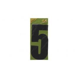 Vuilnisbak sticker 2st nummer 5 zwart