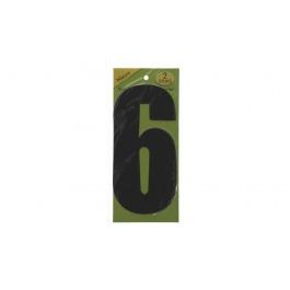 Vuilnisbak sticker 2st nummer 6 zwart