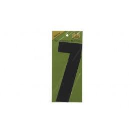 Vuilnisbak sticker 2st nummer 7 zwart