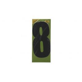 Vuilnisbak sticker 2st nummer 8 zwart