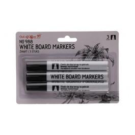 White board marker zwart 3st