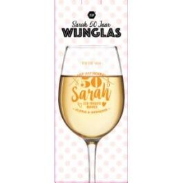 """Wijnglas """"Sarah"""" 50 jaar"""